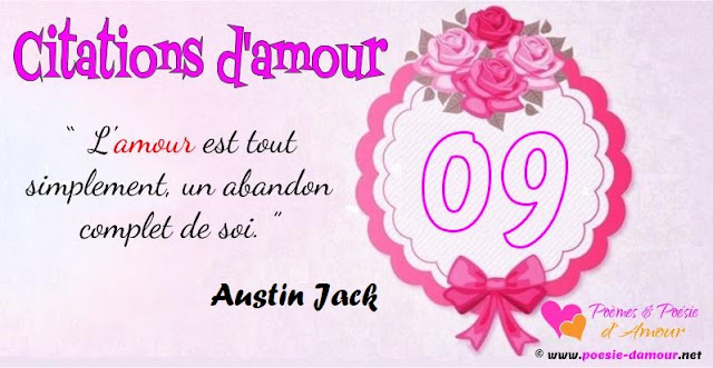 Citation d'Austin Jack sur l'amour