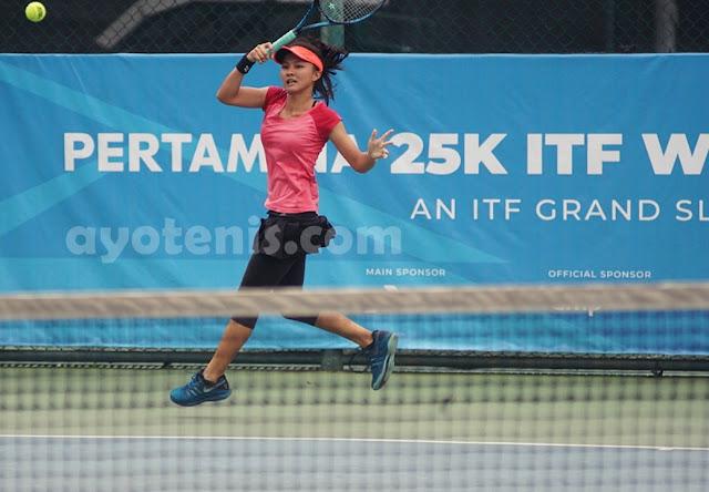 Oxi Gravitasi Putri Pijakkan Kaki ke Final Kualifikasi Turnamen Tenis Pertamina 25K ITF Women's Circuit