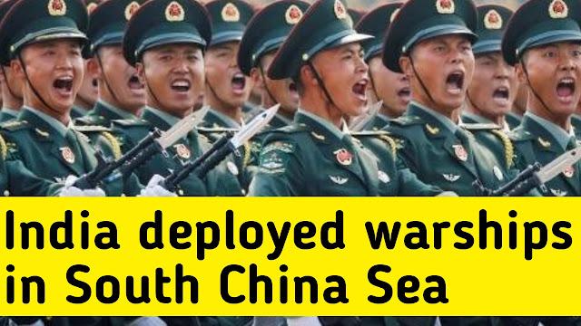India deployed warships in south China sea