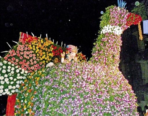 Flowers Decorations For Ganpati Images