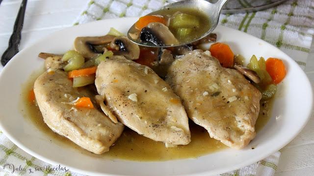 Pollo en salsa de apio. Julia y sus recetas
