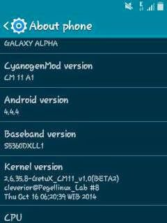 CM11 For Galaxy Y