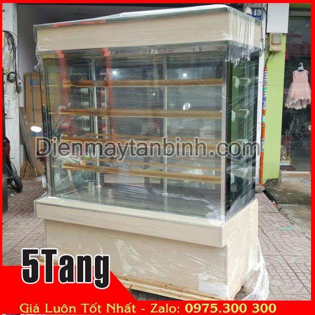 Bán thanh lý tủ bánh kem 5 tầng dài 1m5 cũ giá rẻ (Mới 99%)