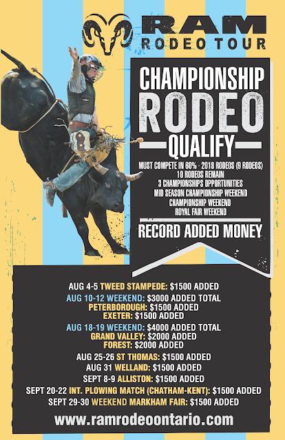 Ontario Rodeo RAM Rodeo Tour