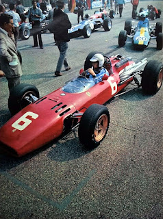 Ludovico Scarfiotti in the Ferrari 312 with which he won the 1966 Italian GP