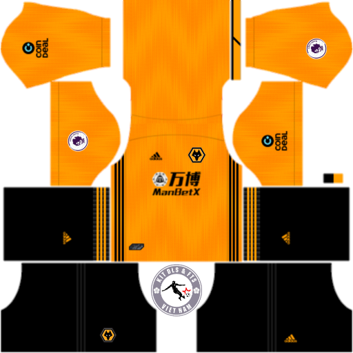 Kits Wolverhampton 2019 - 2020 Dream League Soccer 2019 & First Touch Soccer
