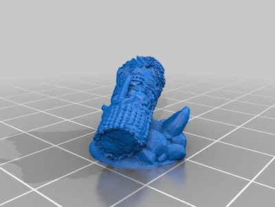 Chaos dwarf / Abysmal dwarf broken statue 10mm & 28mm picture 2