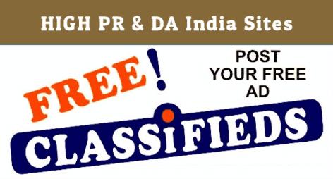 फ्री क्लासीफाईड सबमिट साईट लिस्ट | Free classified submission sites List 2021-2022