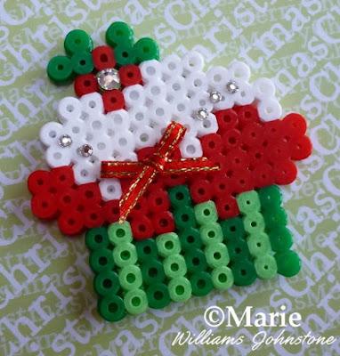 Holiday Christmas Cupcake Perler Fused Bead Pattern