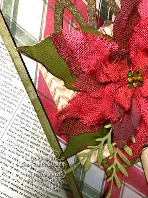 Sara Emily Barker https://sarascloset1.blogspot.com/2020/11/i-always-thank-god-for-you.html #timholtz #sizzix #catherdralwindow #knitted3Dembossing #elegant poinsettia Mixed Media Card 3