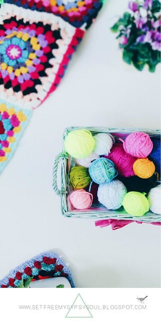 organise organize yarn diy tips tricks ideas wool basket colourful