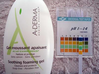 pH de Gel Moussant Apaisant de Aderma