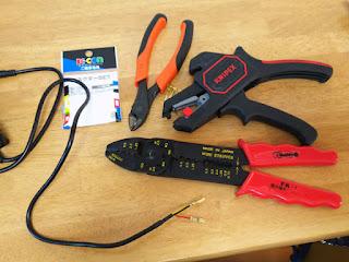 スフィアライト LEDヘッドライト NEOL PH12型 電源端子加工電工ペンチで配線加工