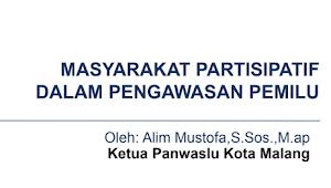 Download Materi Masyarakat Partisipatif Dalam Pengawasan Pemilu