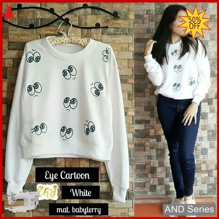 AND052 Sweater Wanita Eye Cartoon Termurah BMGShop