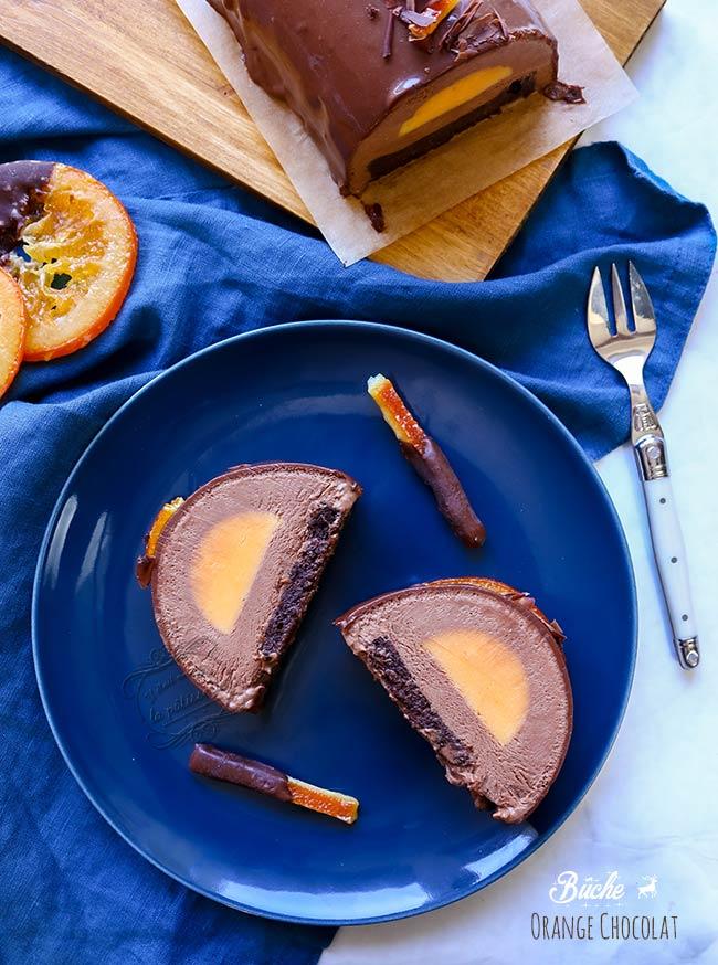 orange chocolat buche