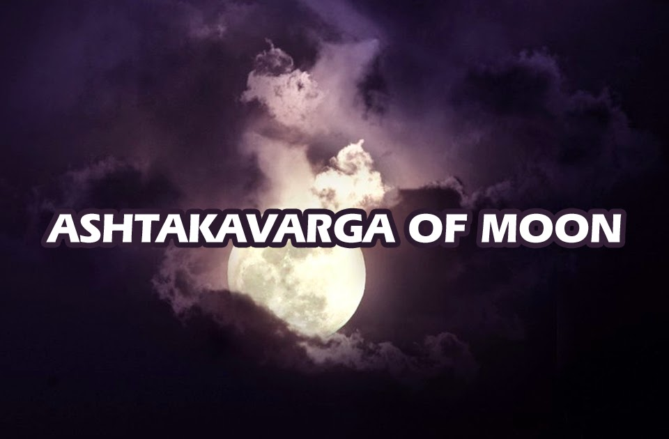 The Ashtakavarga of Moon