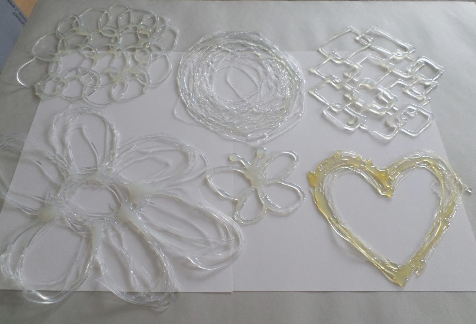 Painting Glass With Glue