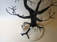 creative paperclay figures in landscape