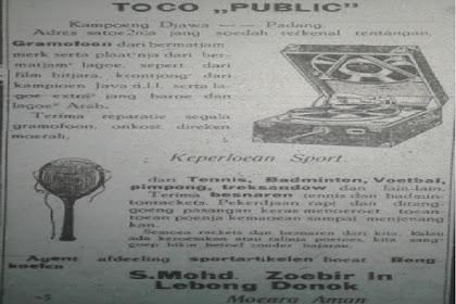 Iklan Gramofon di Padang Tahun 1933