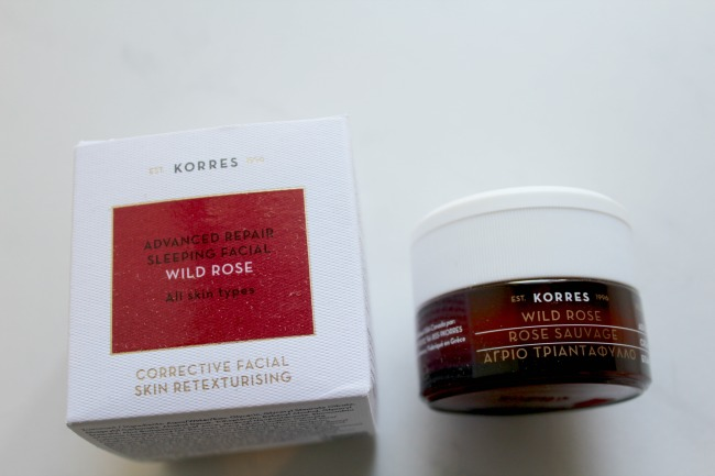 Korres Wild Rose Sleeping Facial Mask review. Nourish ME: www.nourishmeblog.co.uk