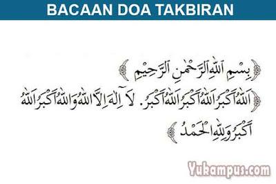 bacaan doa takbiran