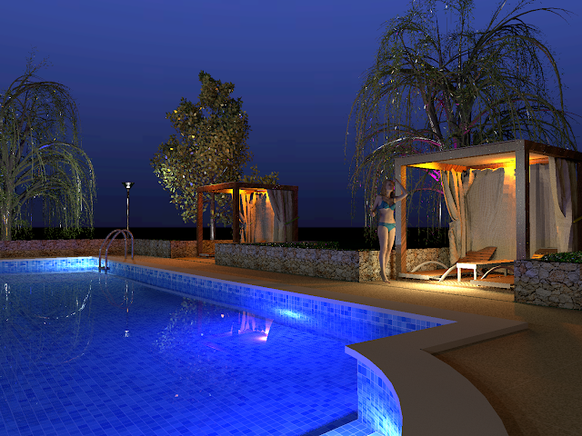 Sweet Home 3d 3d Models 480 Cabana Pool Side Cabana