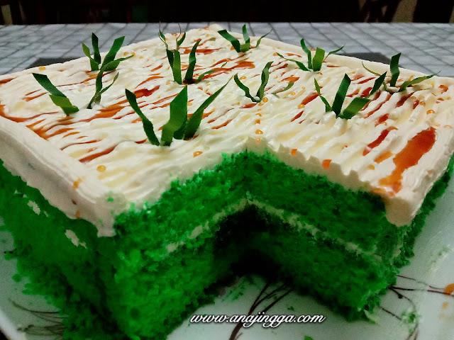 Resepi kek pandan gula melaka