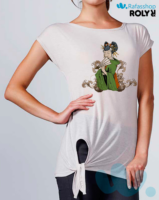 Camiseta Leola 7143 Roly Mujer Manga Corta
