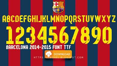 Barcelona 2014-2015 Font TTF