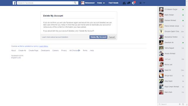 Deleting Fb account
