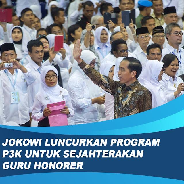 Jokowi Luncurkan Program P3K Tuh Sejahterakan Guru Honorer
