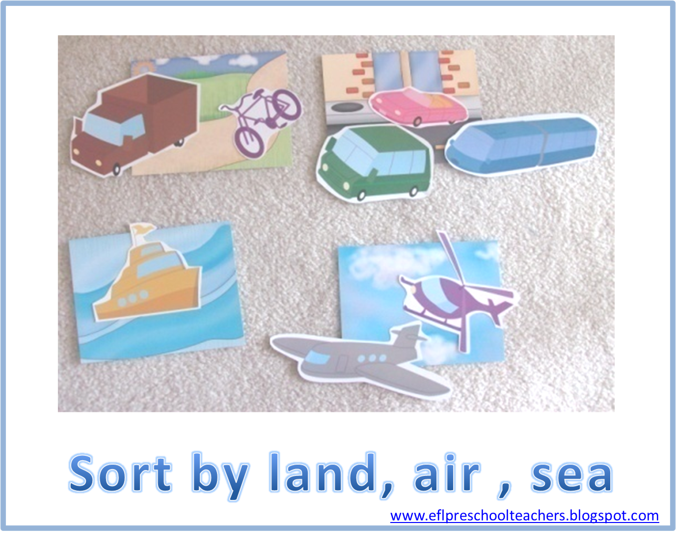 Activity Sorting By Land Air Sea Images