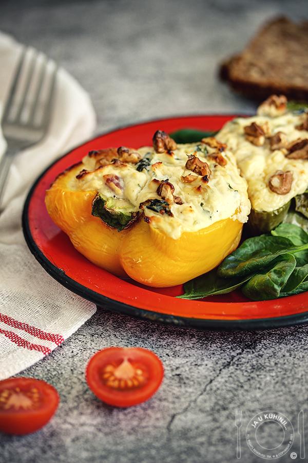 Paprike punjene sirom i spanaćem