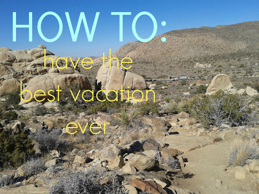 How to have the best vacation ever!