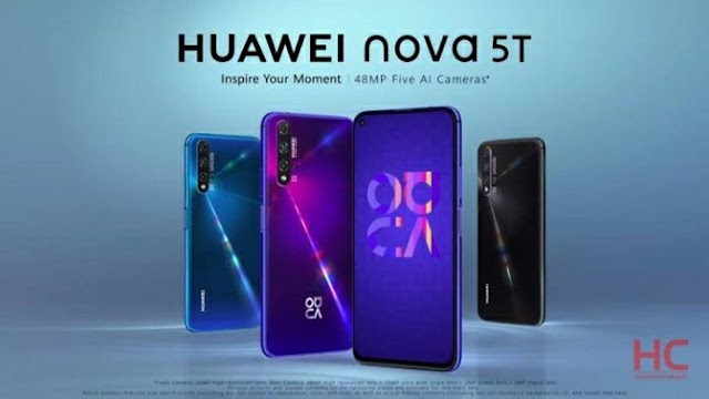 Huawei Nova 5T Specification With Five Cameras And Powerful Processor Is Here !!!