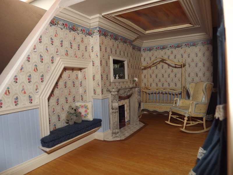 Late Victorian English Manor Dollhouse 1 12 Miniature