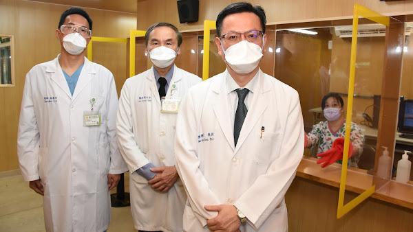 彰基醫院戶外正壓大量採檢站 擴增十倍採檢及檢驗量能