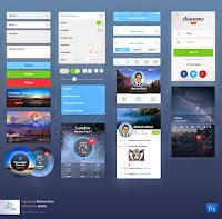 Ücretsiz indir: Mobil Tasarım için UI Kit