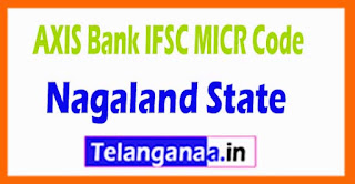 AXIS BANK IFSC MICR Code Nagaland State