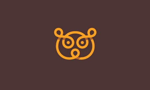 Overlapping technique Logo Bear