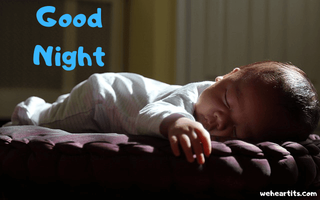 good night images with cute baby