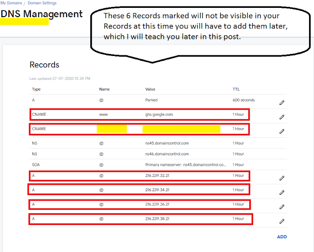 Setup GoDaddy Custom Domain On Blogger | DNS Management