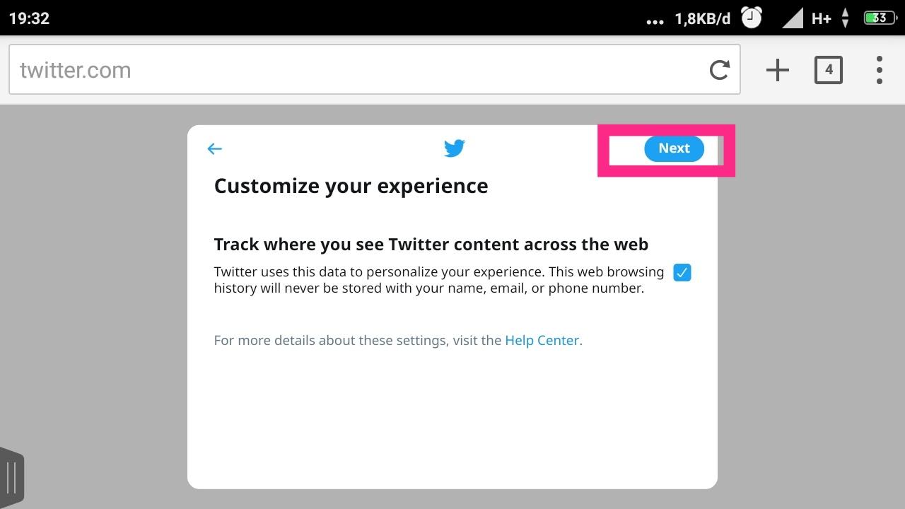 cara mendaftar twitter baru