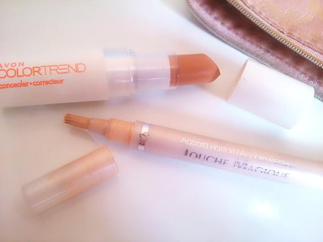 Correcteur Touche Magique Accord Parfait L'Oréal et correcteur Color Trend Avon