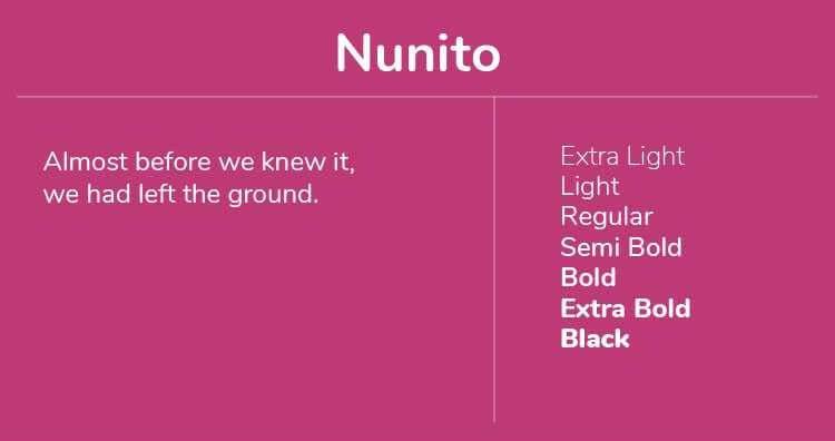 Font Terbaik Untuk Website Salah Satunya Adalah Nunito