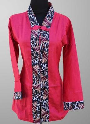 model terbaru baju batik kerja wanita