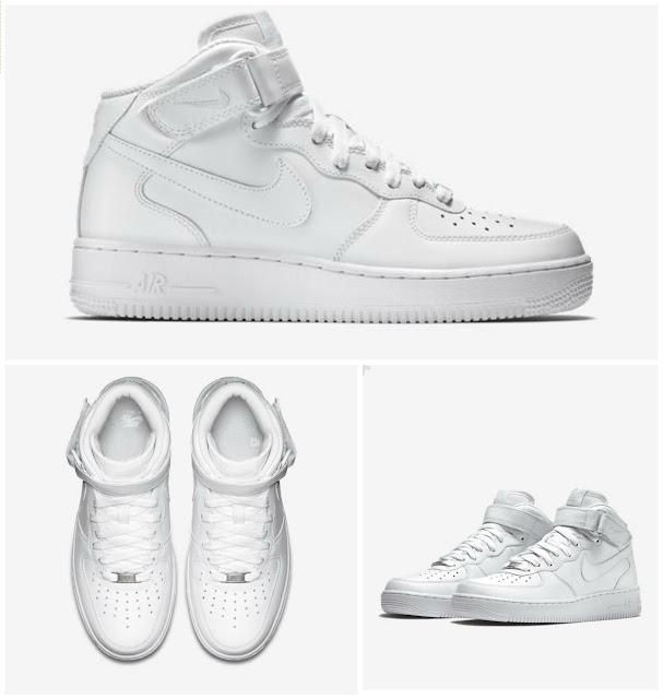 Nike Air Force One preço Branco Mid