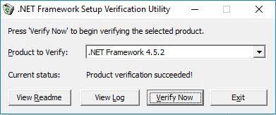 .NET Framework Setup Vertification Utility