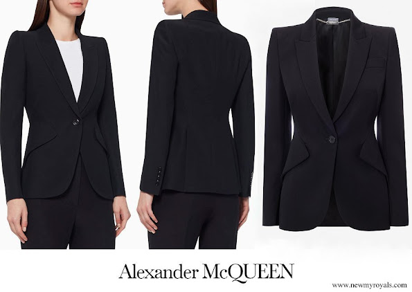Crown Princess Mary wore Alexander McQueen Leaf Crepe Blazer